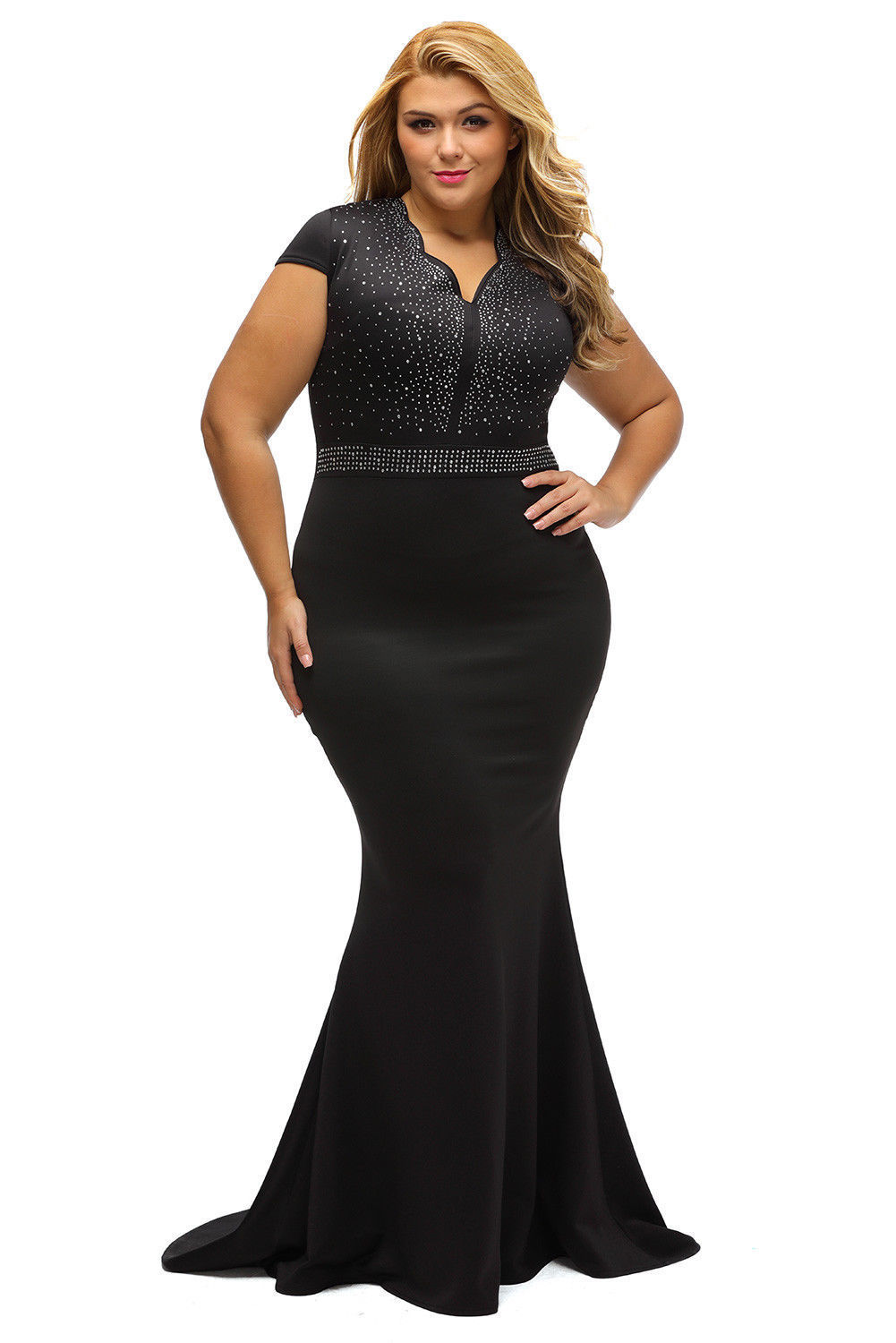 bde4688cf39 US Plus Size Women Bridesmaid Ball Gown Prom Evening Party Cocktail Maxi  Dress