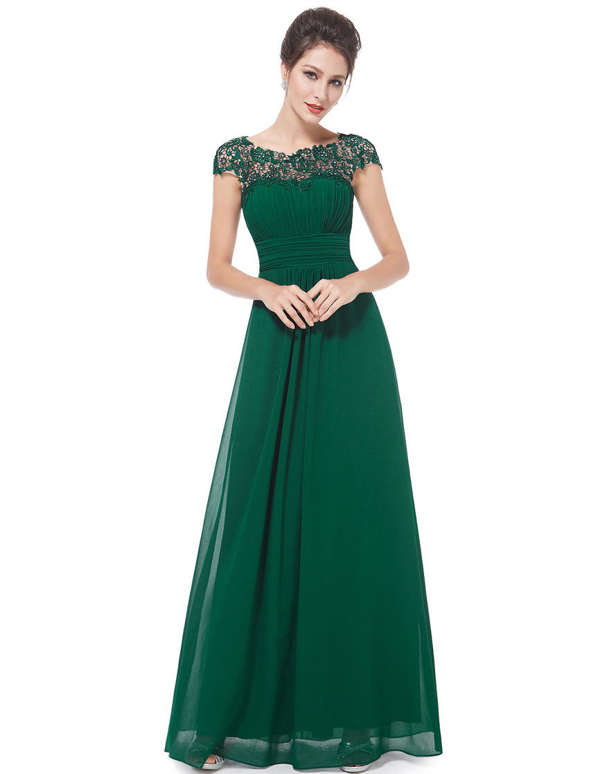 Great Long Prom Dresses Evening Party Dark Green Formal Bridesmaid ...