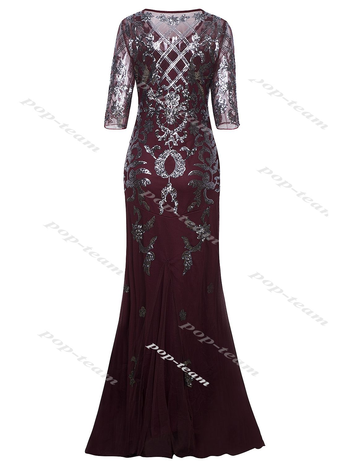 Awesome Mermaid Costume 1920s Flapper Gatsby Party Long Evening Maxi ...