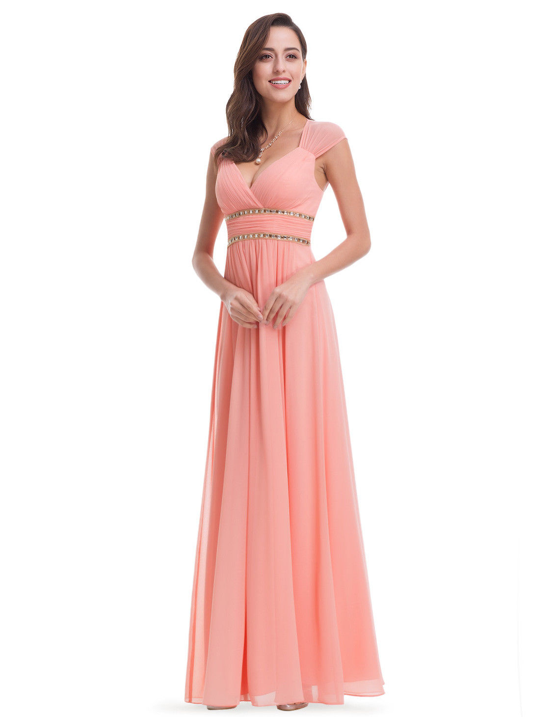 2a267fc603f3 Ever-Pretty Long Bead Bridesmaid Dresses Formal Backless Wedding Gown 08697