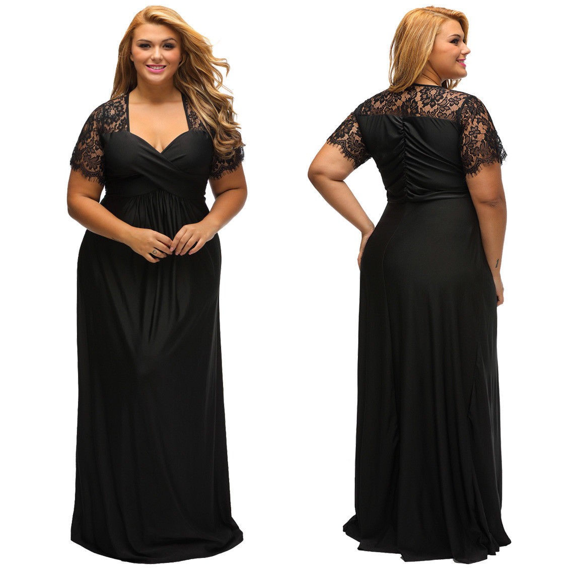 Womens Cocktail Dresses Fashion Futuristic: Cool USA Plus Size Womens Formal Gown Wedding Bridesmaid