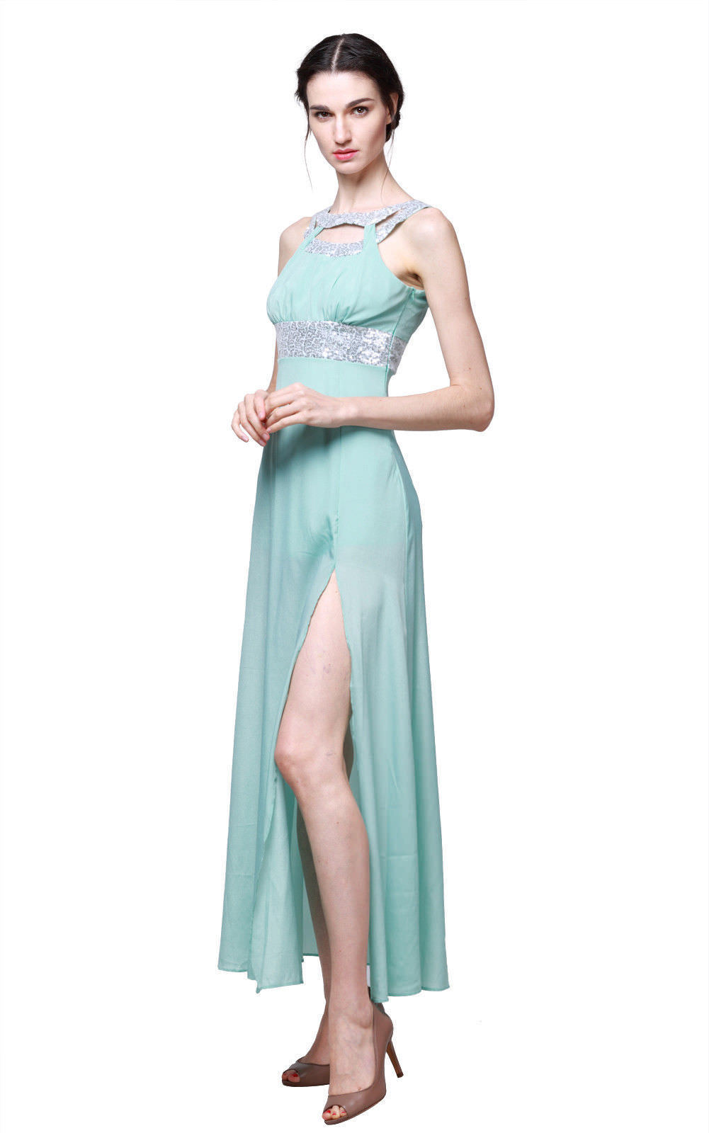 76aa26d96e US Formal Wedding Bridesmaid Long Evening Cocktail Ball Prom Gown Maxi Dress