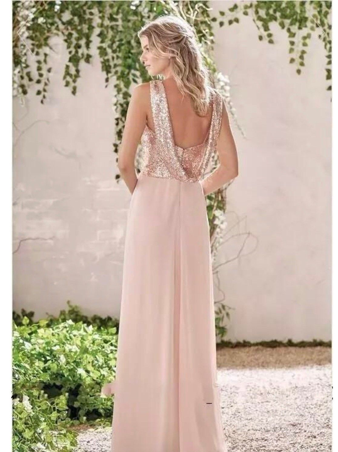 bbf6955950f Rose Gold Bridesmaid Dresses With Sleeves