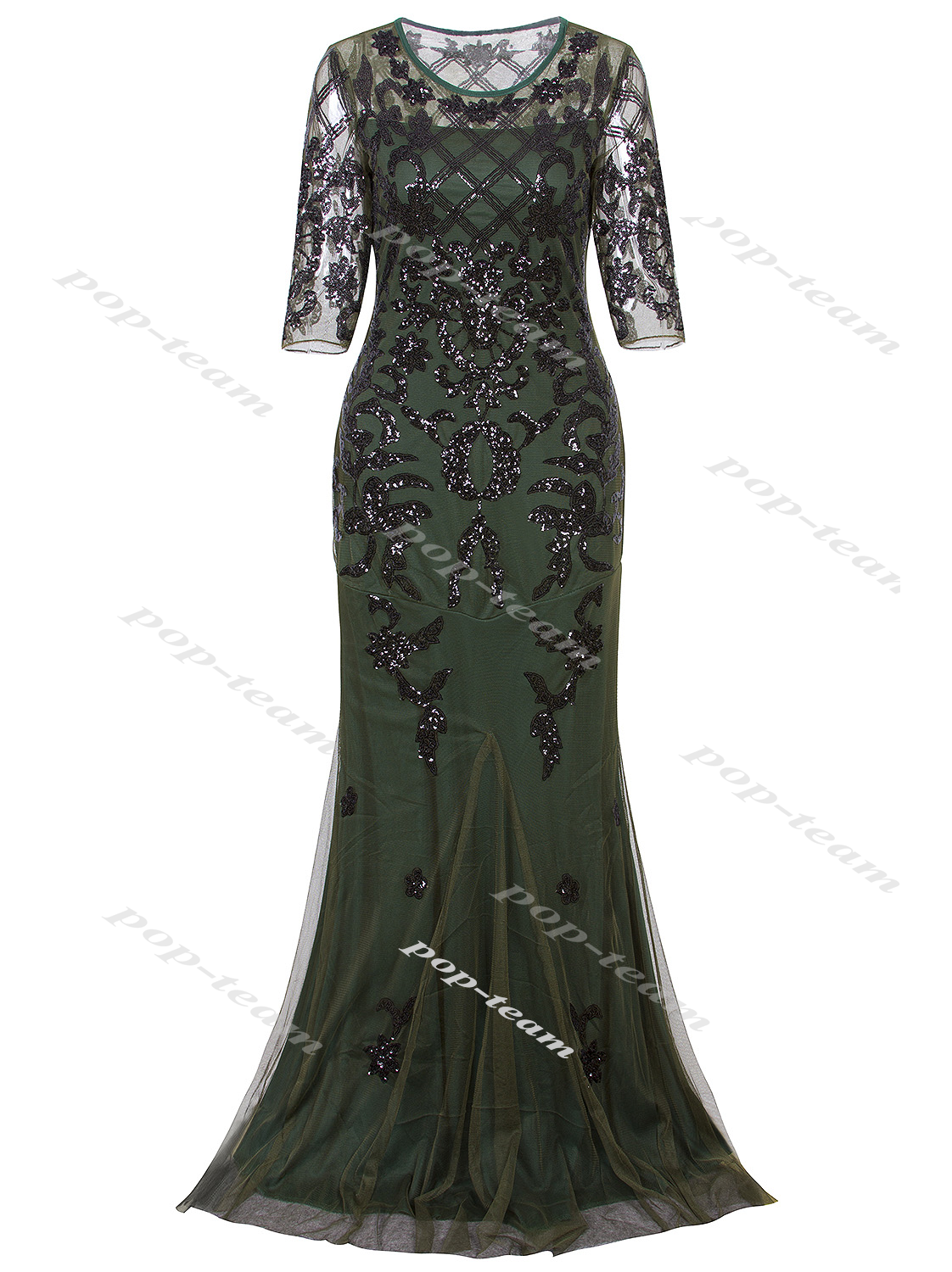 Great Mermaid Costume 1920s Flapper Gatsby Party Long Evening Maxi ...