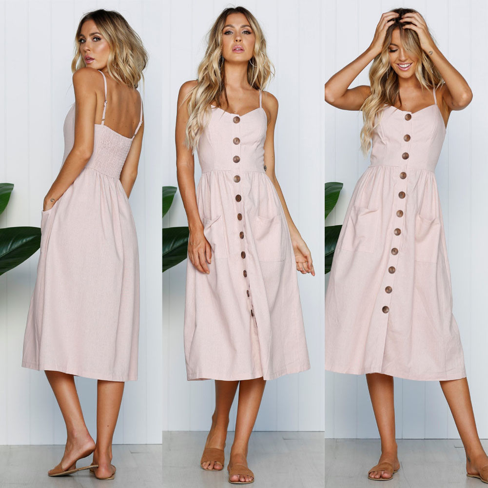 b915949a088 US Women Boho Floral Long Maxi Dress Evening Party Beach Dresses Summer  Sundress