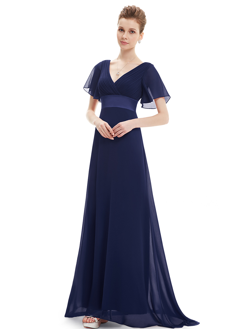 Cool Ever Pretty Navy Blue Evening Weddings Bridesmaid