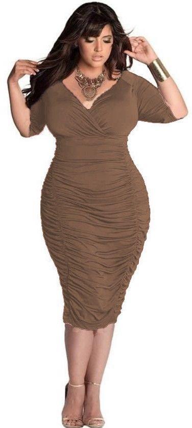 Cool Women V Neck Sexy Dresses Stretch Bodycon Bandage