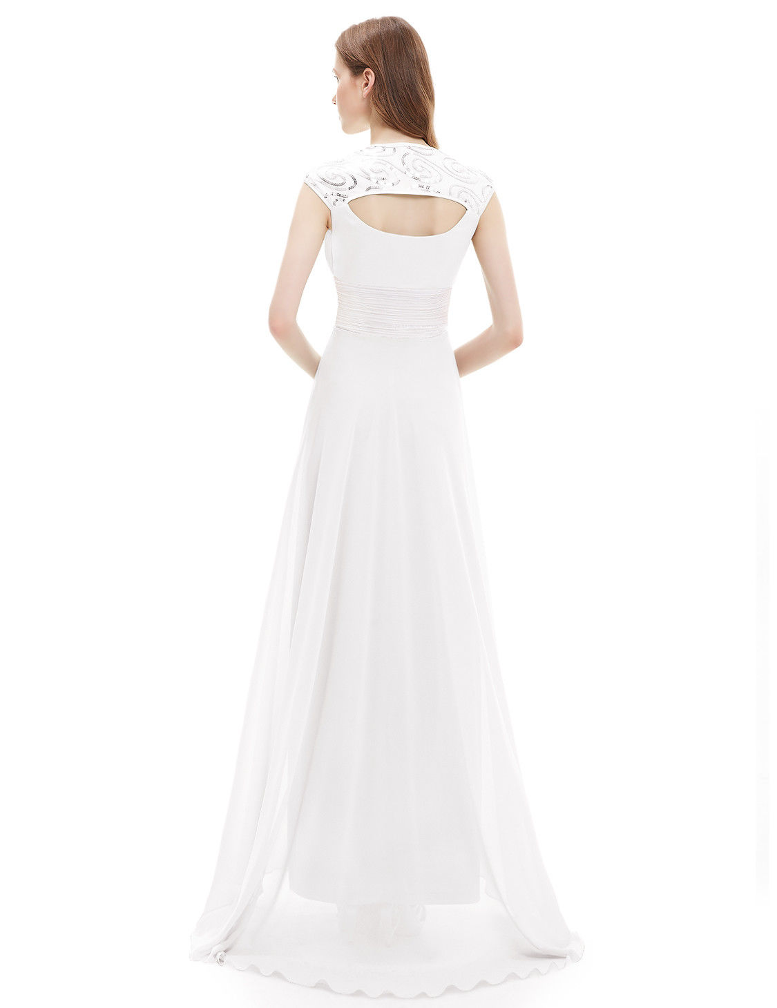196a8836e03f Long Chiffon Bridesmaid Dress Evening Formal Party Ball Gown Prom 09672  Size 14