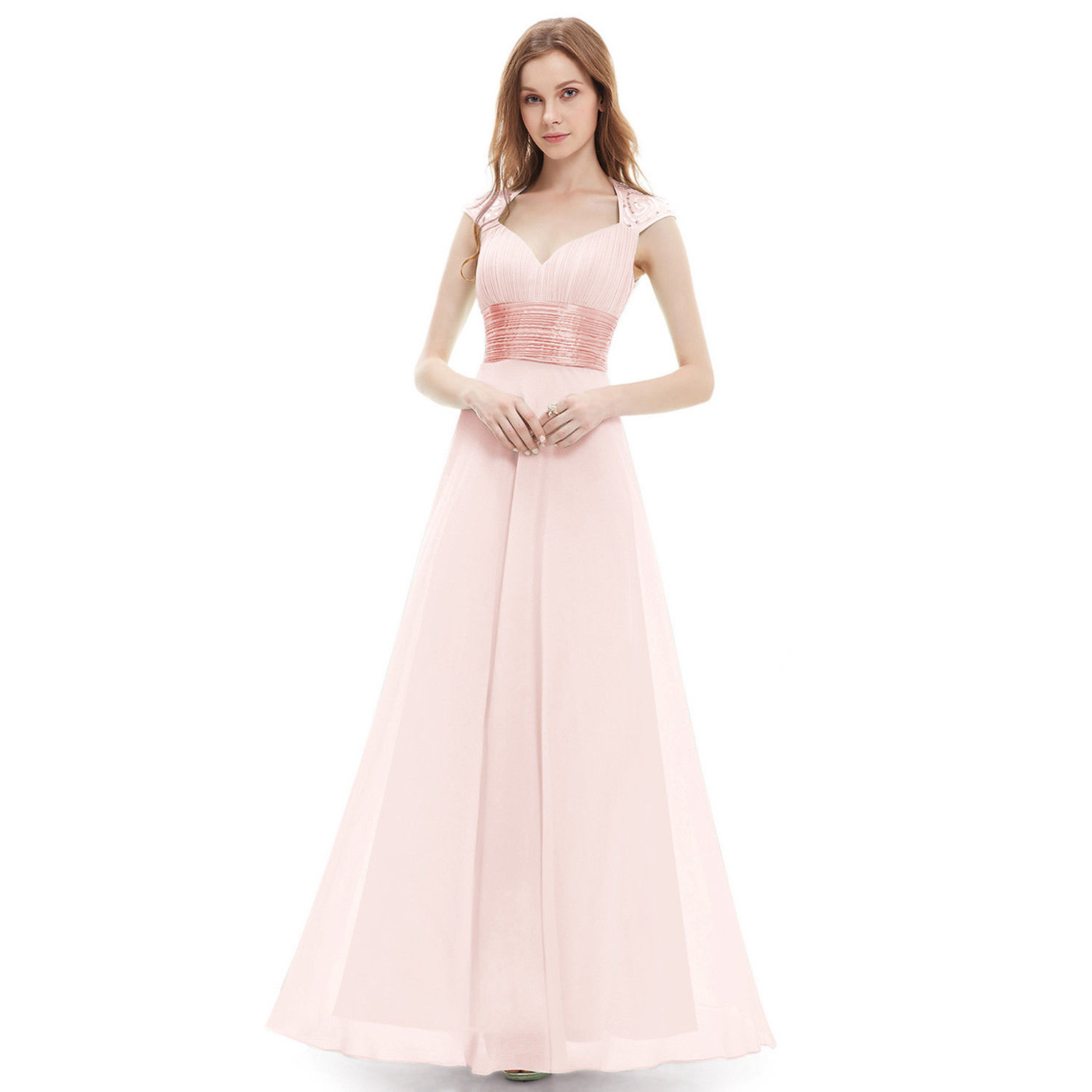 5ca8e3188d257 Long Chiffon Evening Formal Party Ball Gown Prom Bridesmaid Dress ...