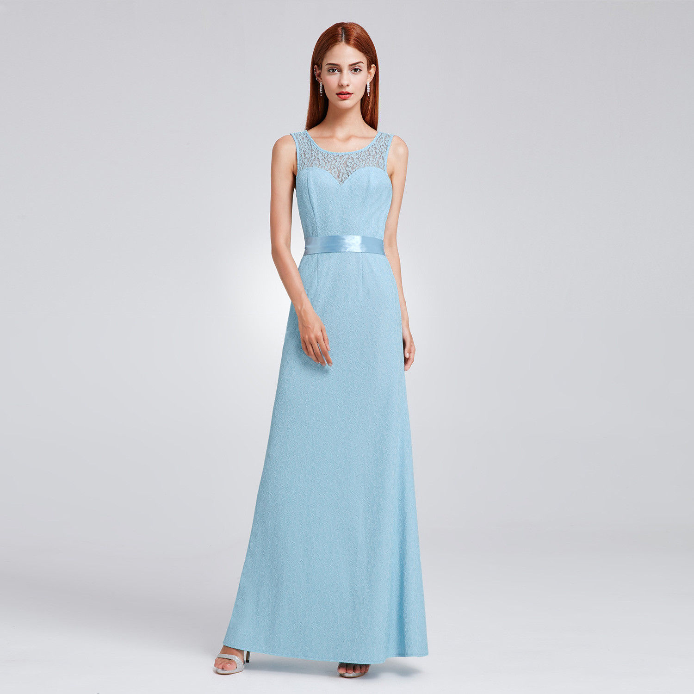 Fashion Dresses 2019: Awesome Long Bridesmaid Prom Dress Wedding Evening Formal