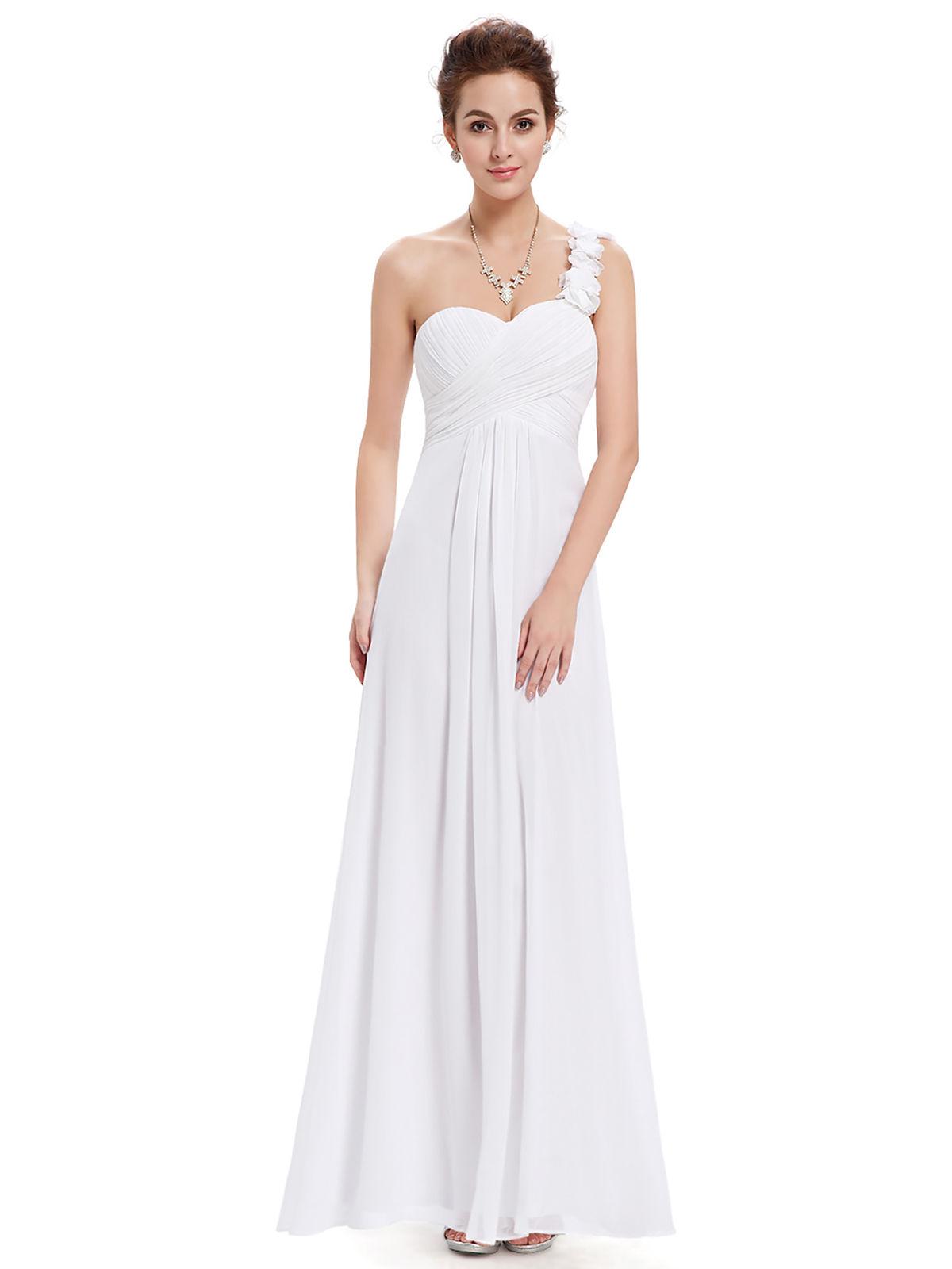 355e1a2759b Long One Shoulder Chiffon Bridesmaid Dresses