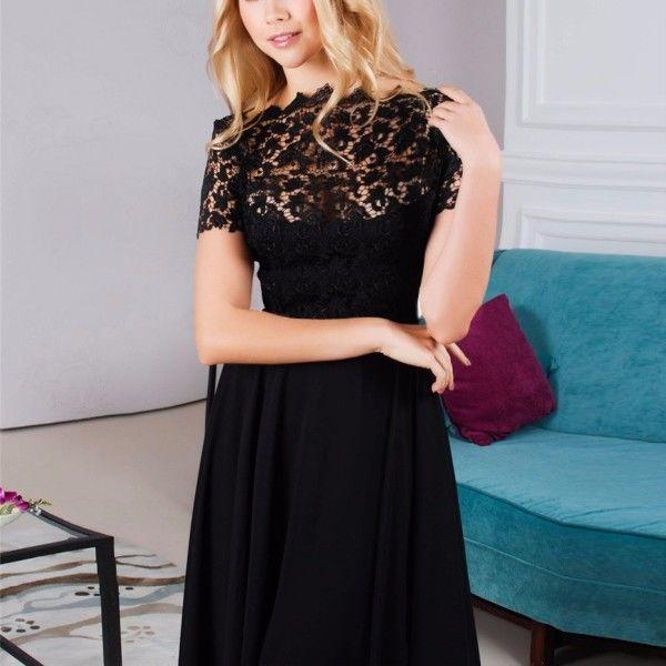 Cool Women Evening Sexy Dress Maxi Black Ball Gown Prom