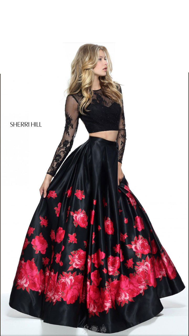 Awesome Sherri Hill 00 Long 2 Piece Prom Formal Dress