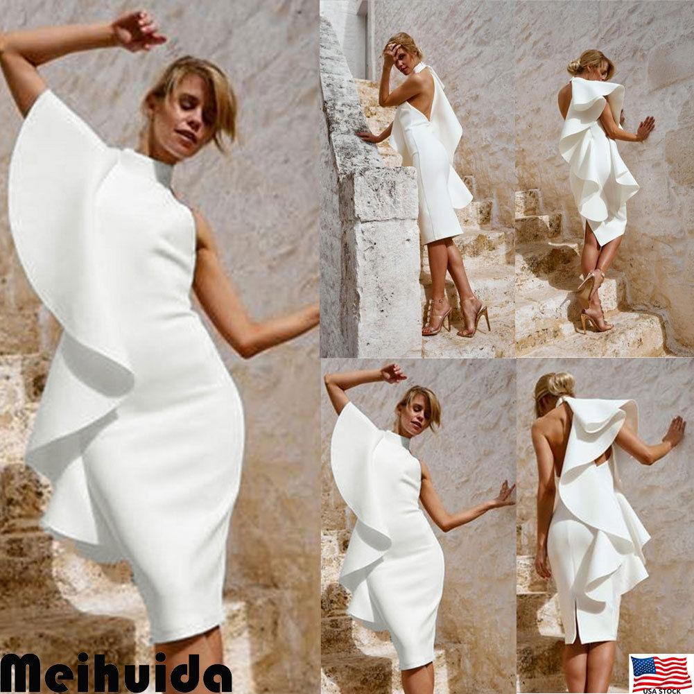 ac30bd08e104 USA Women Summer Boho Maxi Dress Evening Cocktail Party Beach Dresses  Sundress