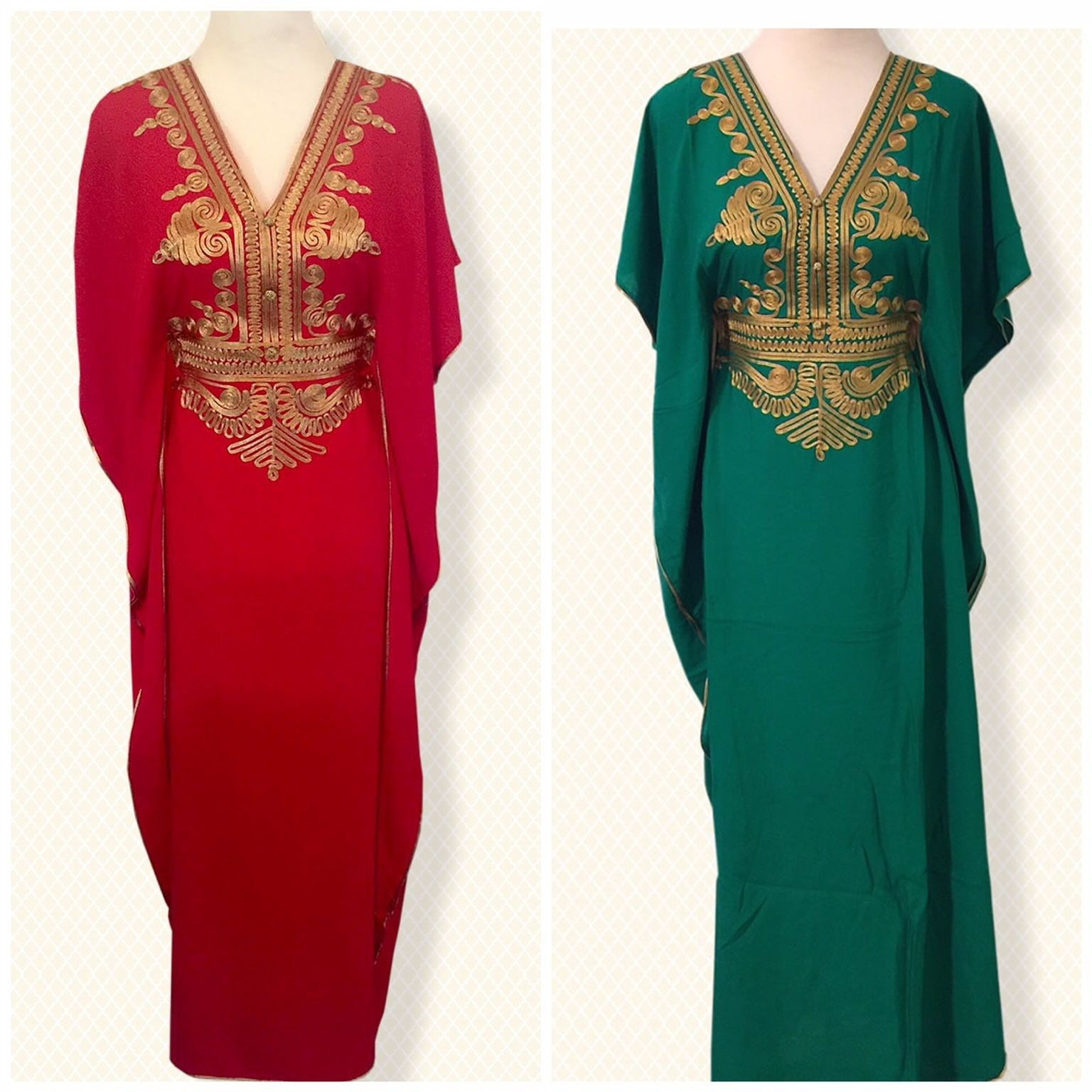 Cool Moroccan kaftan Embroidery Batwing Maxi Dress Dubai Sexy Arabian Abaya  one size 2019 cd27b919d66