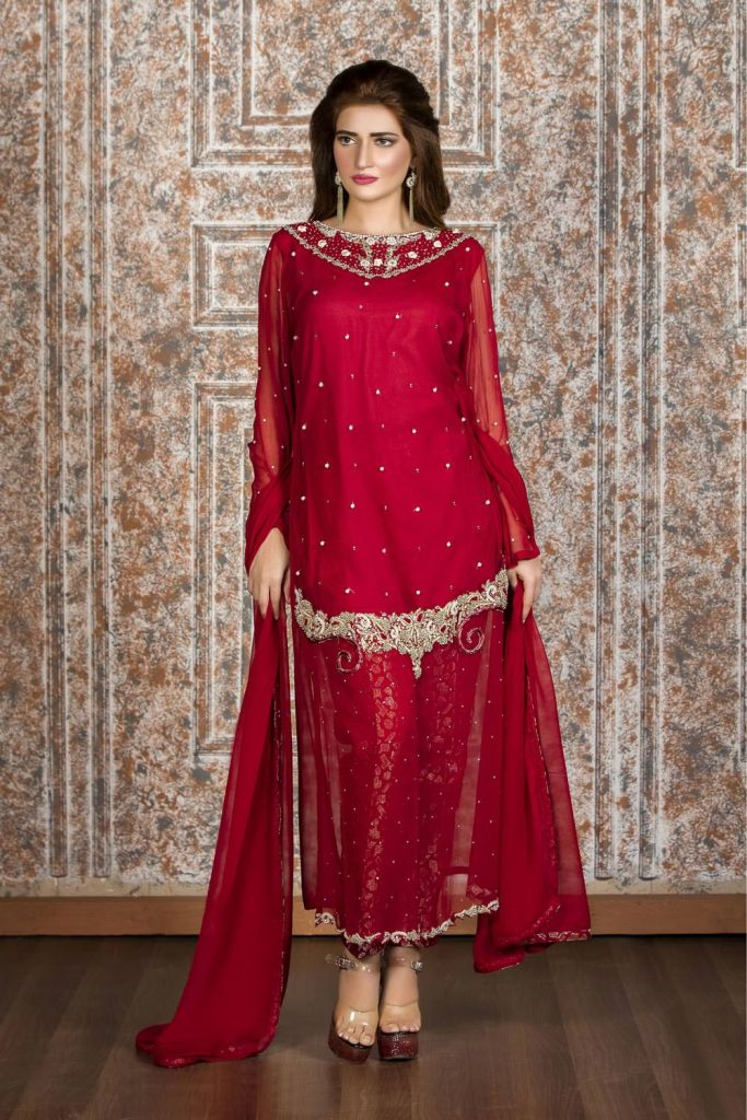 Latest Pakistani Cape Style Dresses 2018 2019 Designer