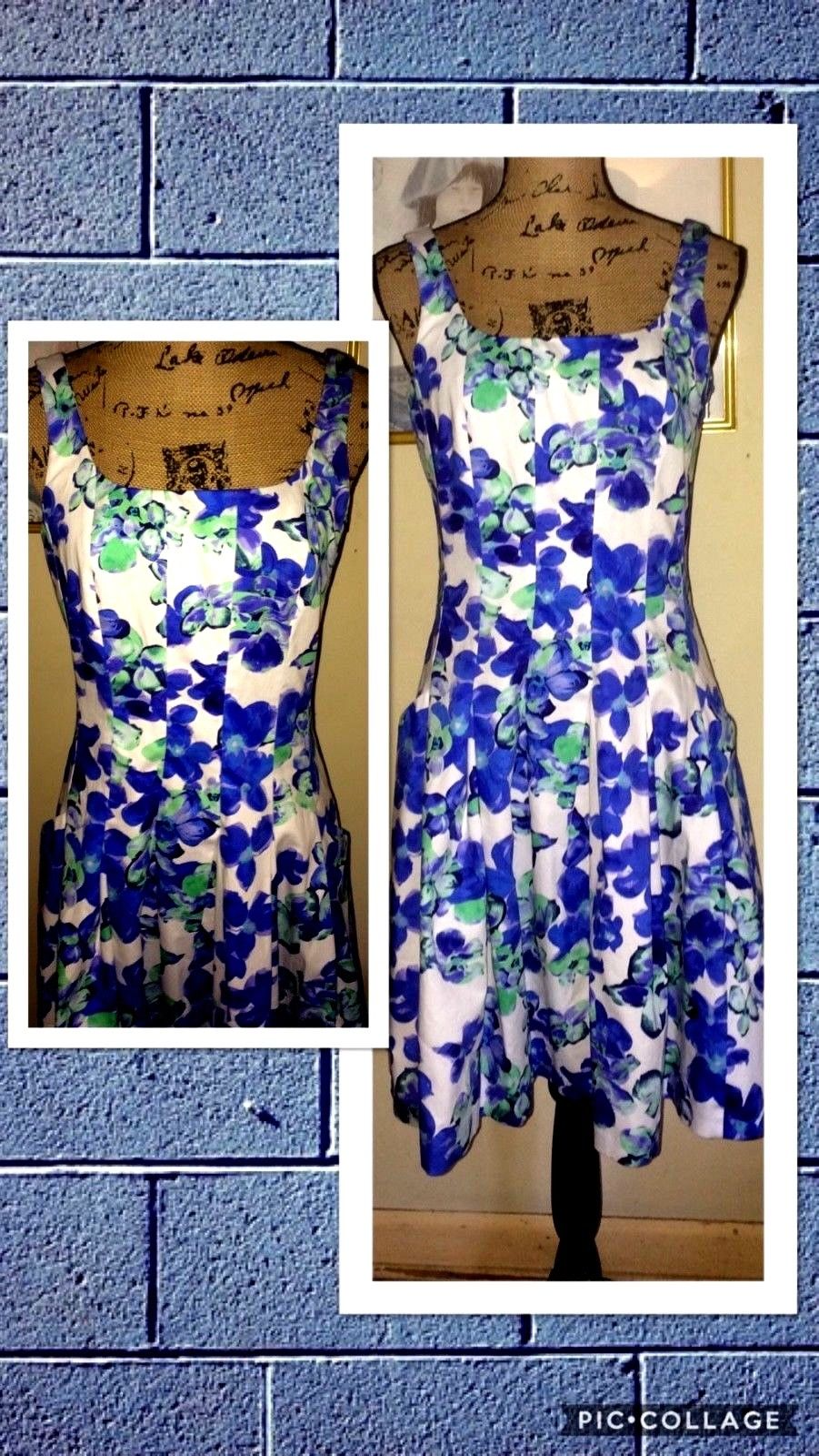 Cool Lauren Ralph Lauren Dresses Blue Green Floral Fit