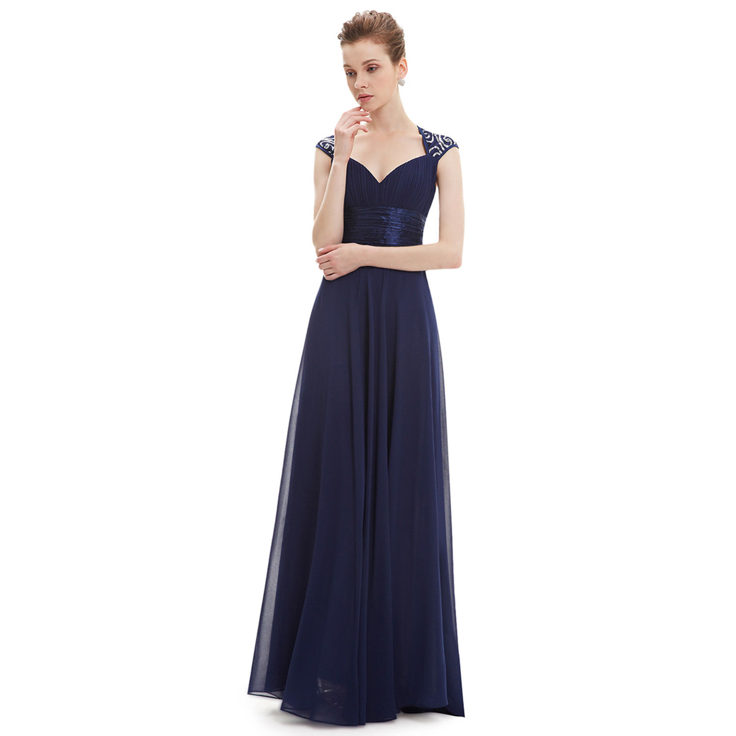 1776d892453c2 Long Chiffon Bridesmaid Dress Evening Formal Party Ball Gown Prom 09672  Size 16