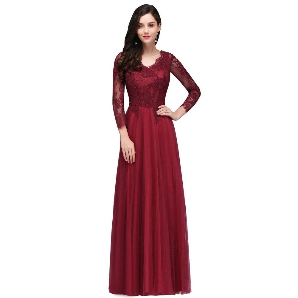 Amazing Long Evening Formal Party Dress Prom Ball Gown Bridesmaid ...