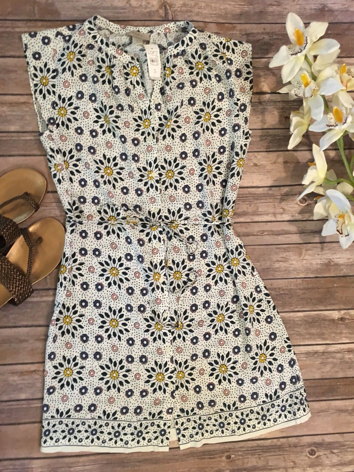 Awesome Nwt Ann Taylor Loft Floral Dress Size Small 2019