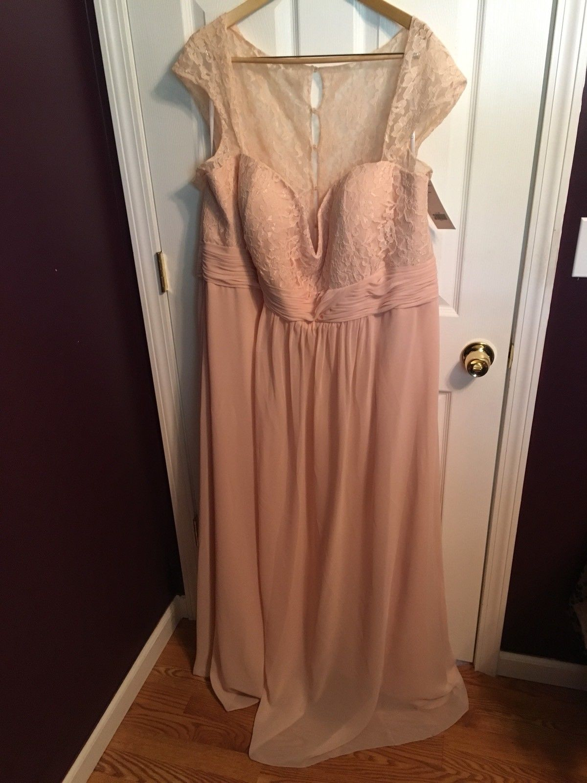 02b40d3f37ed NWT Christina Wu Formal Prom Bridesmaid Dress Womens Plus Size 32 Blush Pink