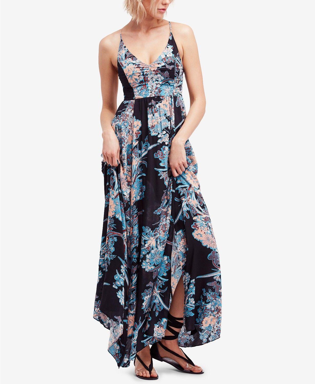 29779709afa NWT Free People Through The Vine Floral Print Maxi Dress Size Carbon L  108