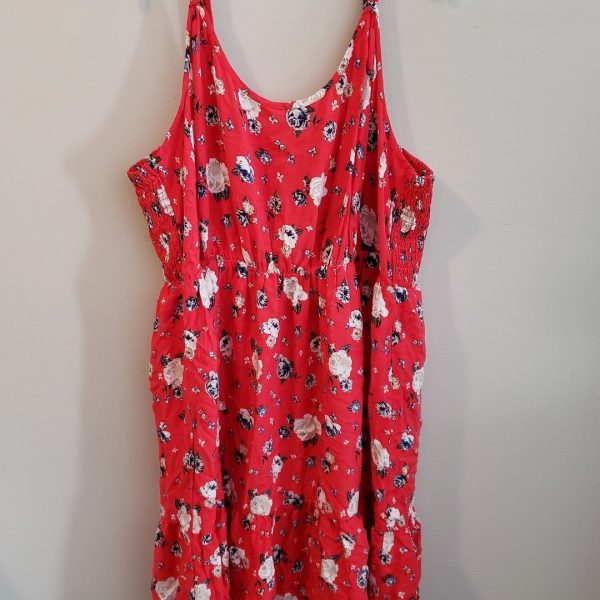 Awesome Red Floral Sun Dress Torrid Plus Size 4 2018 | B2B Fashion