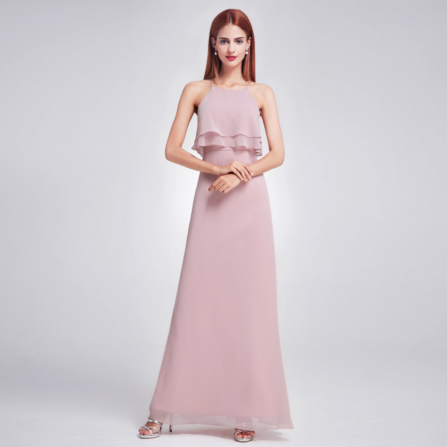 f8698880aff7c Amazing Sexy Long Halter Bridesmaid Party Dress Size 12 07137 Ever ...