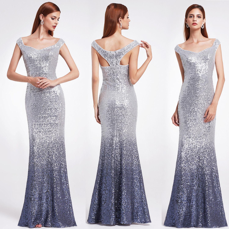 Cool US Ever-Pretty Mermaid Bridesmaid Dresses Grey Prom Evening ...