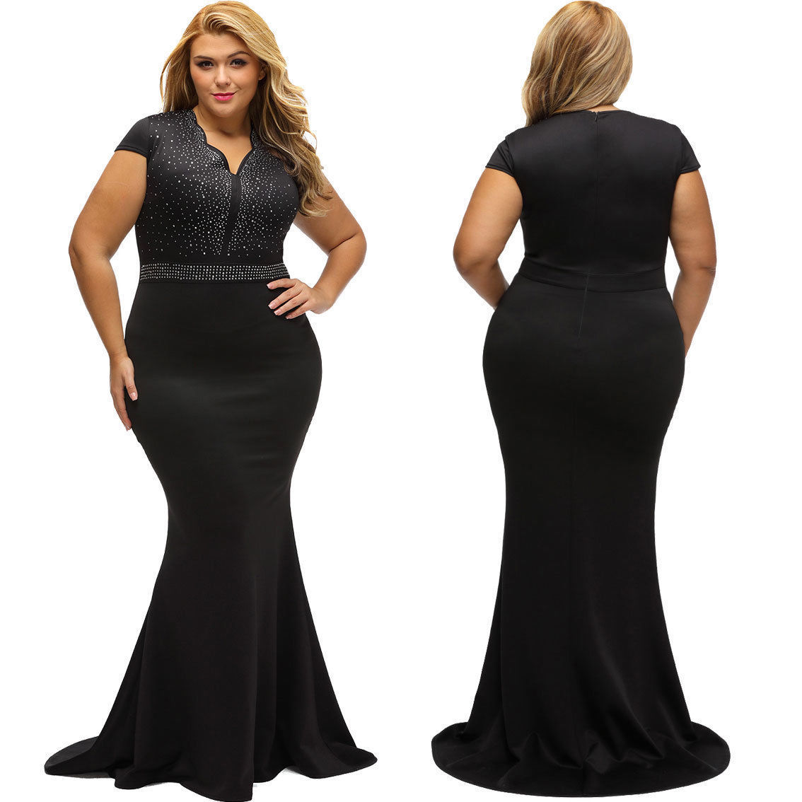 bdf889e5787 Amazing US Plus Size Women Bridesmaid Ball Gown Prom Evening Party Cocktail  Maxi Dress 2019