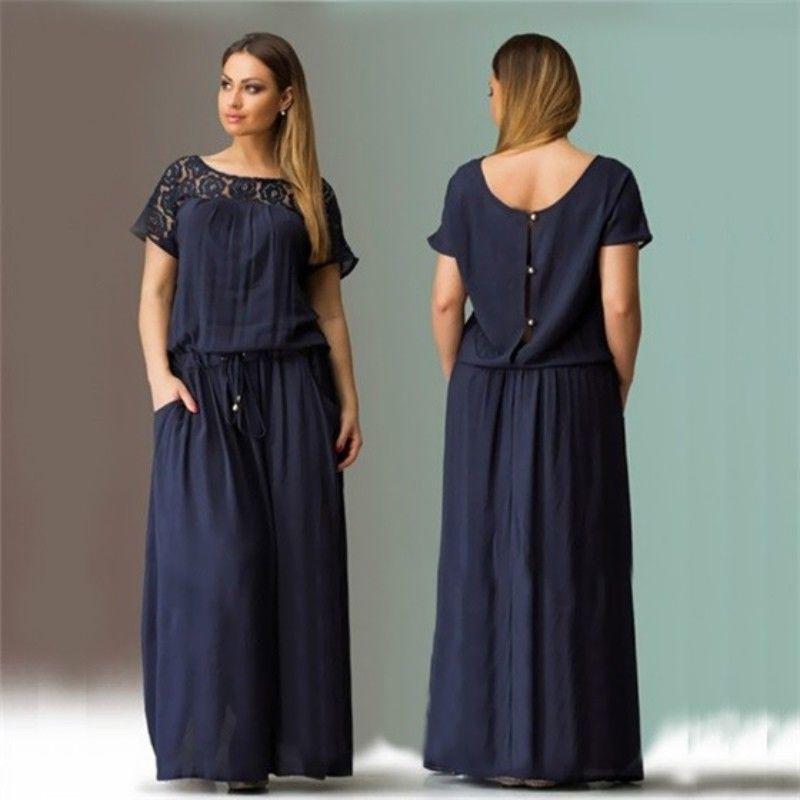 Great Women Boho Long Maxi Dress Lace Ladies Beach Plus Size Evening ...