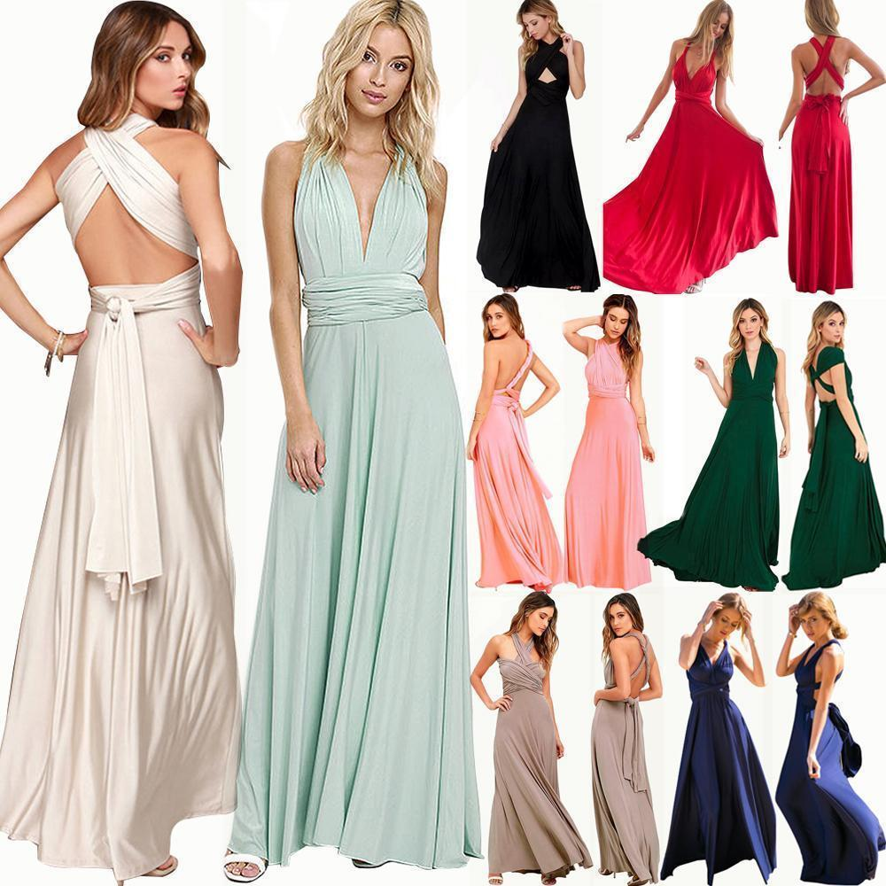 fa044ce962f Women Evening Long Dress Convertible Multi Way Bridesmaid Formal Party Gown  USA