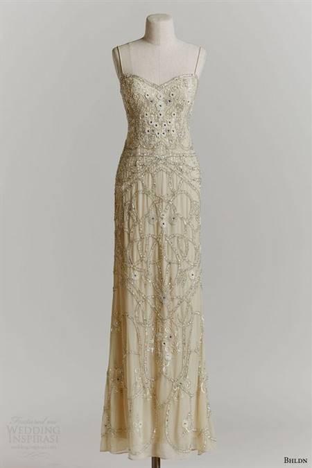 1920s beaded wedding dress