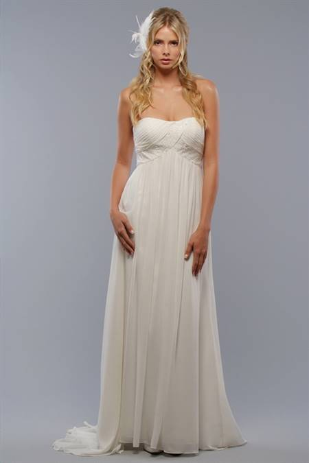 Simple white dress for wedding
