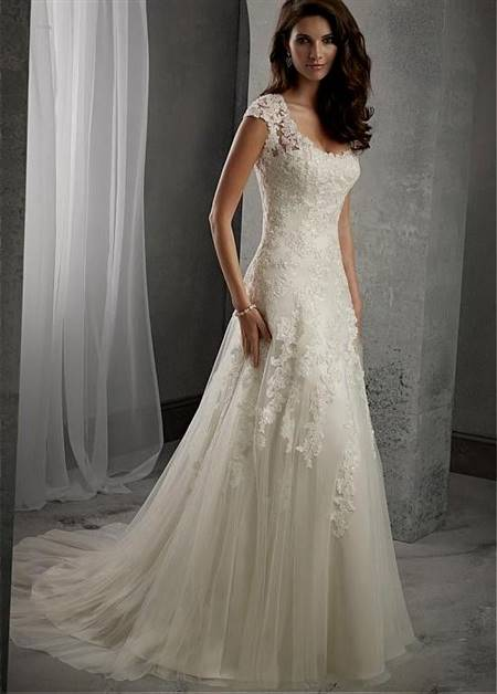 a line corset wedding dress