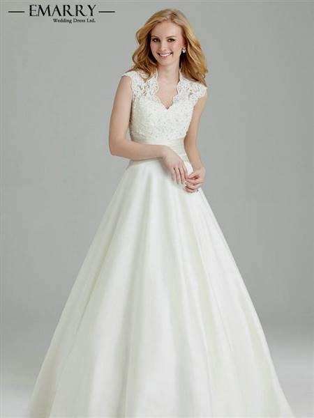 a line lace top wedding dress