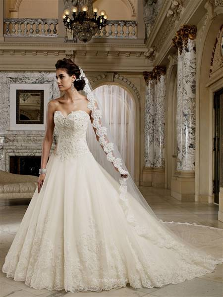 a line wedding dresses with lace