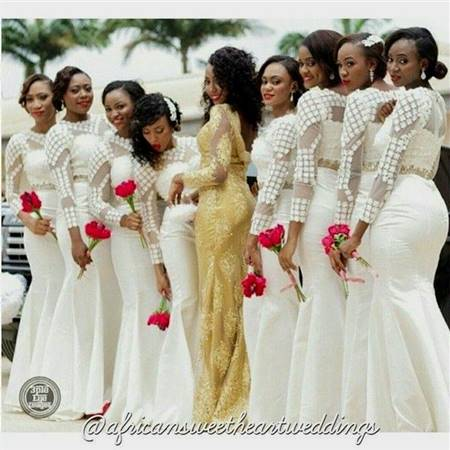 african lace bridesmaid dresses