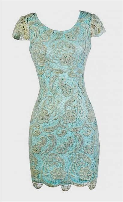 aqua lace dresses