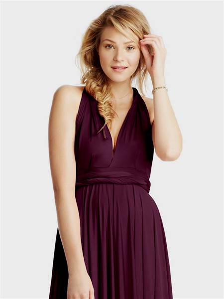aubergine bridesmaid dresses