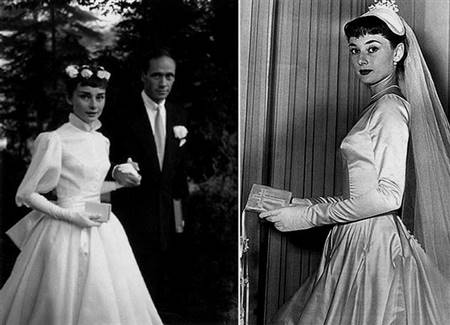 audrey hepburn pink wedding dress