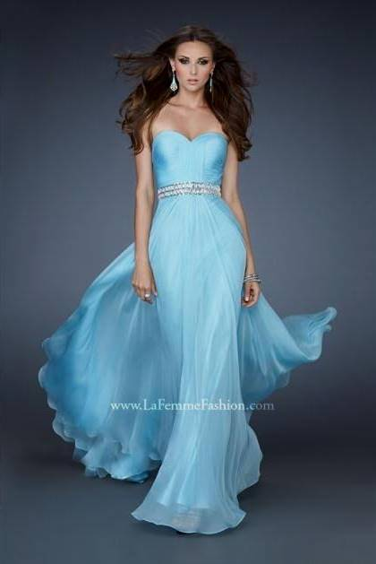 baby blue dresses for prom