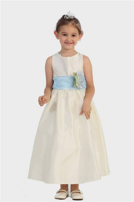 baby flower girl dresses blue