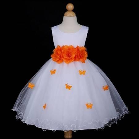 baby flower girl dresses orange
