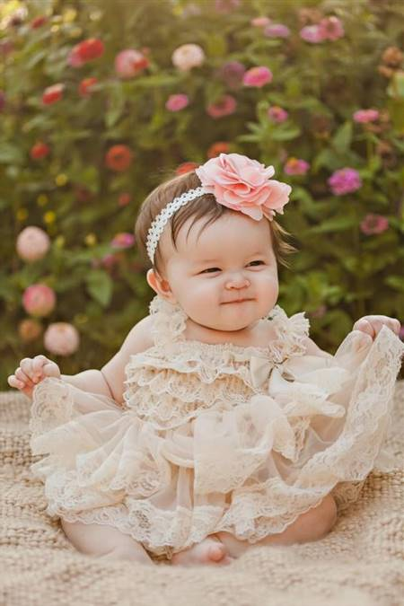 baby flower girl lace dresses