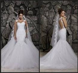 backless fishtail wedding dress