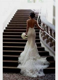 backless mermaid wedding dress