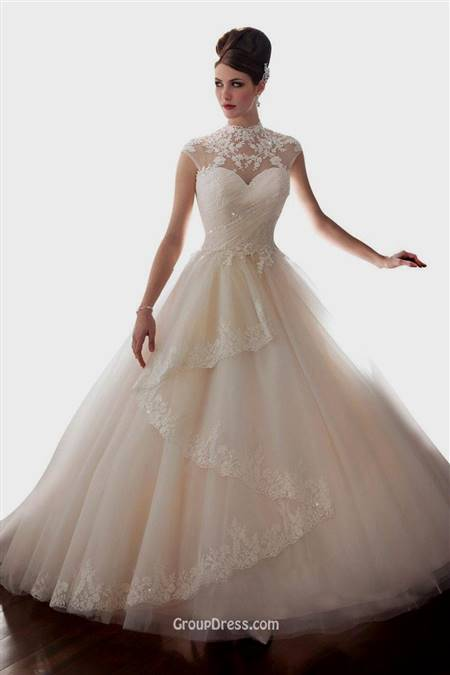 ball gown with cap sleeves