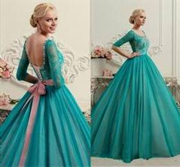 ball gowns with lace sleeves for prom