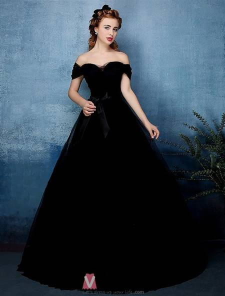 beautiful black ball gowns